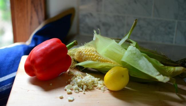 Corn Mise en Place