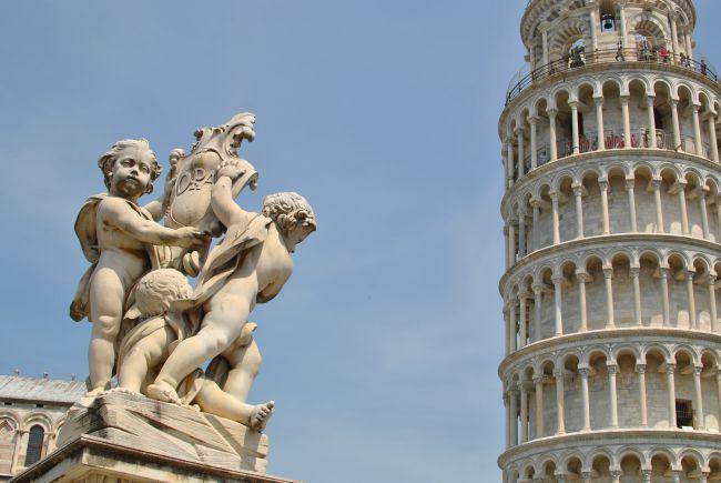 Tower of Pisa Cherub Statue