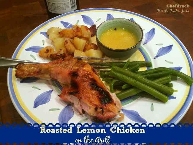 Roasted Lemon Chicken on the Grill