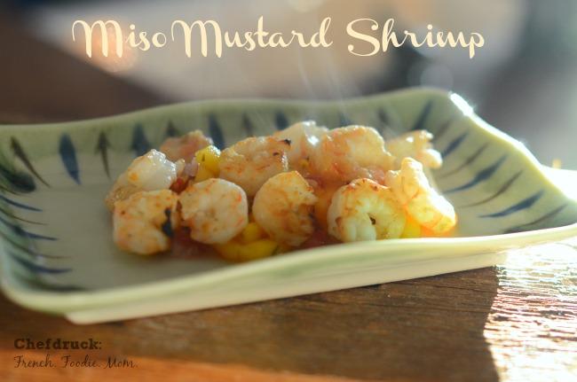Miso Mustard Shrimp with 10 Minute Marinade