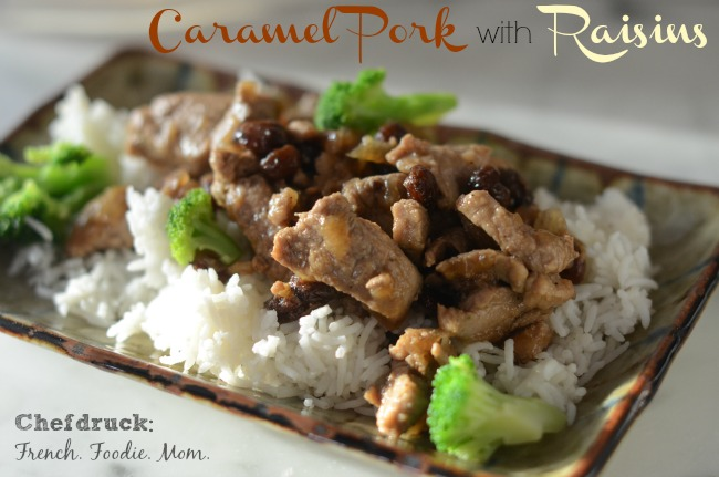 Caramel Pork with Raisins