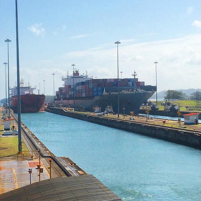 Ships in Gatun Locks