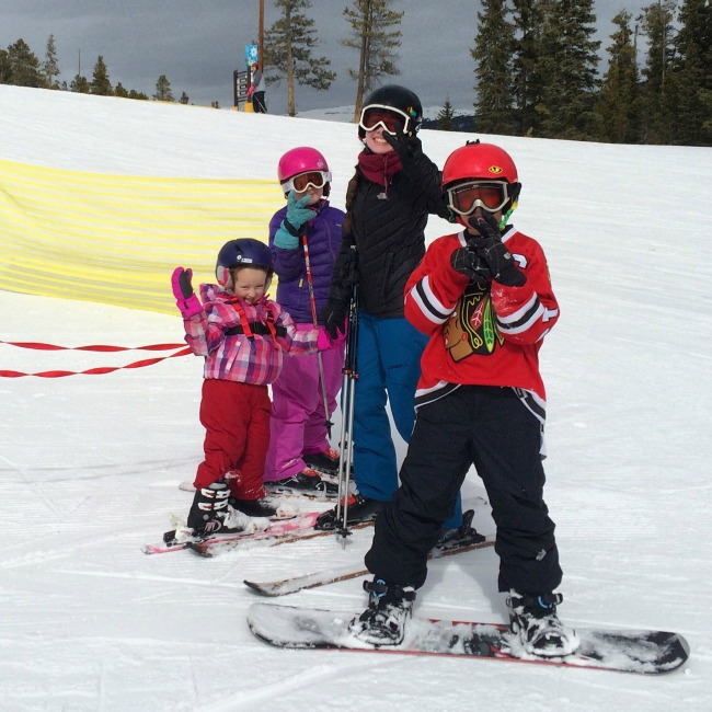 Druckman kids skiing