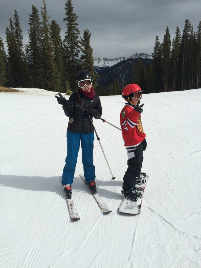 jack and bella skiing