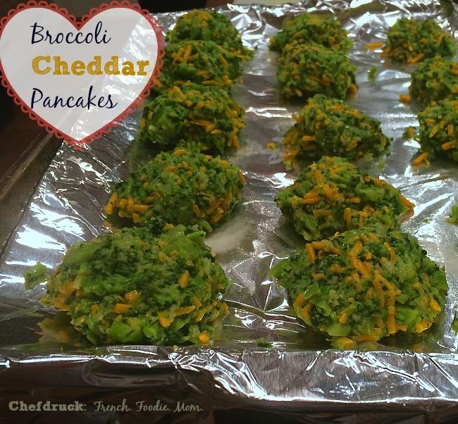 Broccoli Cheddar Pancakes
