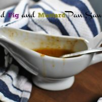 Roasted Chicken with Dried Fig Mustard Pan Sauce